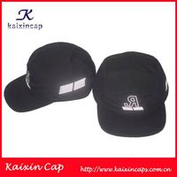 Corduroy black suede brim custom 5 panel hats wholesale
