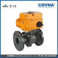 Hot sale PVC electric flange ball valve