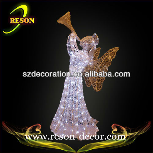 decorative electronic gadget acrylic christmas angel light