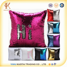 Mermaid Pillow Case, Play Tailor Magic Reversible Sequin Pillow Cover Throw Cushion Case