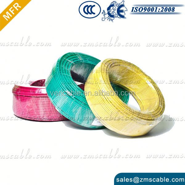 LSOH LSZH Insulated XLPE IEC 60227 electric wire color code
