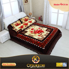 3d bed cover sets of blanket,bedsheet and pillowcases