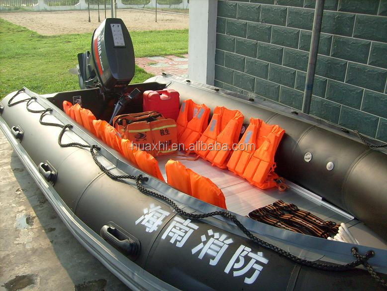 Large inflatable catamaran fishing boat