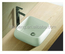 HP888 Designer One Pieces Wash Basin Counter Top Basin Rectangular Washbasin Fixing