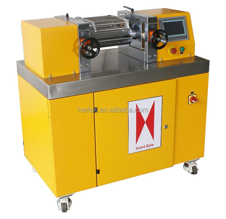 Electric Heated Plastics and Rubber Double Roller Mini Mill