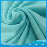 80 Polyester 20 rayon TR light blue single jersey knitting fabric for sport shirt