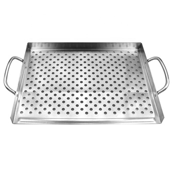 Stainless steel non stick bbq grill pan
