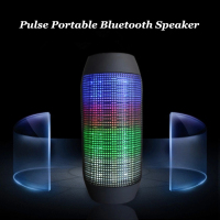 2016 Promotion Gift Pulse Wireless Mini Music Bluetooth Speaker with Colorful 360 Degree LED lights for Mobile Phone
