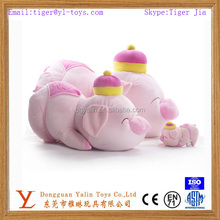 new design plush lovely family soft toy pig,stuffed plush pink pig toy
