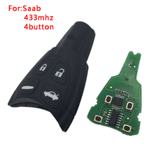 New Uncut Replacement Remote Smart Key 433Mhz PCF7946AT for SAAB 9-3 93 2003-2010 LTQSAAM433TX