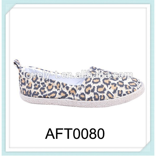 for girls wenzhou leopard printed canvas shoes
