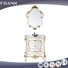Frank New recommended elegant hand carved flower strict humidity control rotating mirror jewelry cabinet