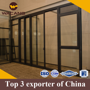 New design heavy duty glass sliding aluminum door and windows manufacture