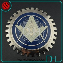 wholesale custom Freemasons logo metal car emblems without MOQ