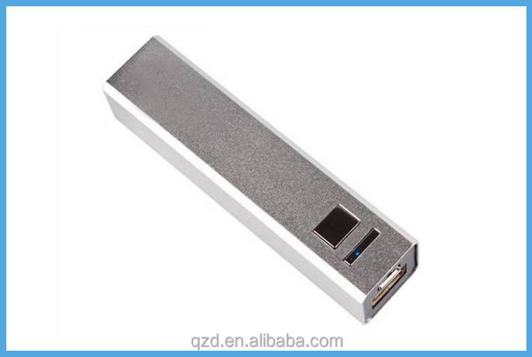 Made in china!2600mAh Metal power bank external battery charger