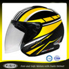 Yellow black youth boys open face safest motorcycle helmet