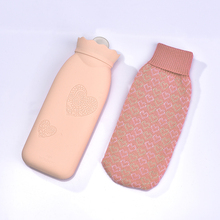 Best quality plush hot water bottle/bag cover with customized logo