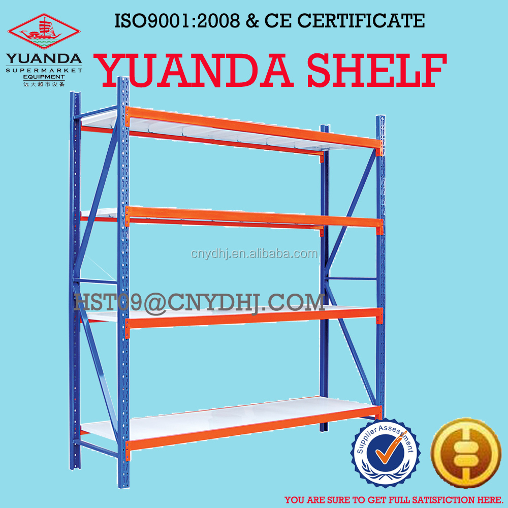 Light duty metal warehouse shelving rack unit with 100kg capacity
