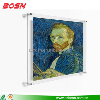 Private Picture holder acrylic picture frame acrylic display paint