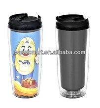 Promotional acrylic tumbler with removable insert