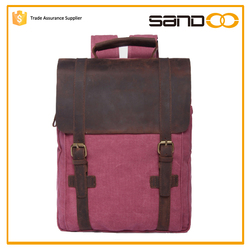 Sandoo trendy youth mochilas coreanas, canvas school backpack china