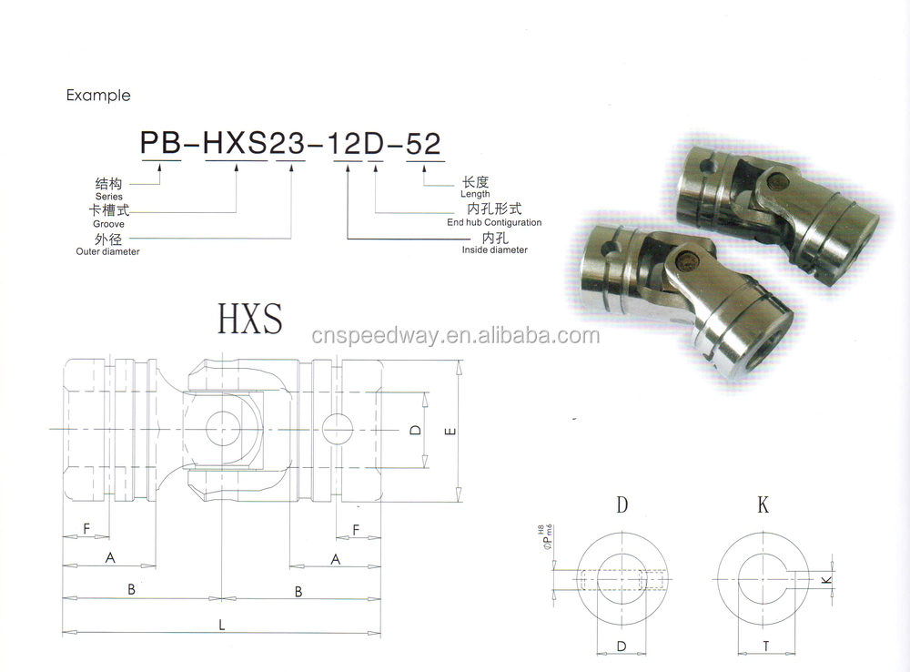 2016 High Quality Electric Motor Shaft Universal Coupling
