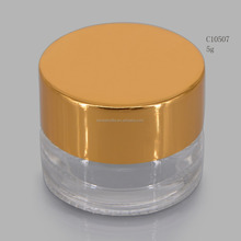 kenbe bottle wholesale eye cream jar, clear color 5g small cream jar glass with metal lid from china