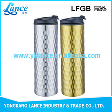 Lance 16oz stainless steel double wall insulated tumbler with straw