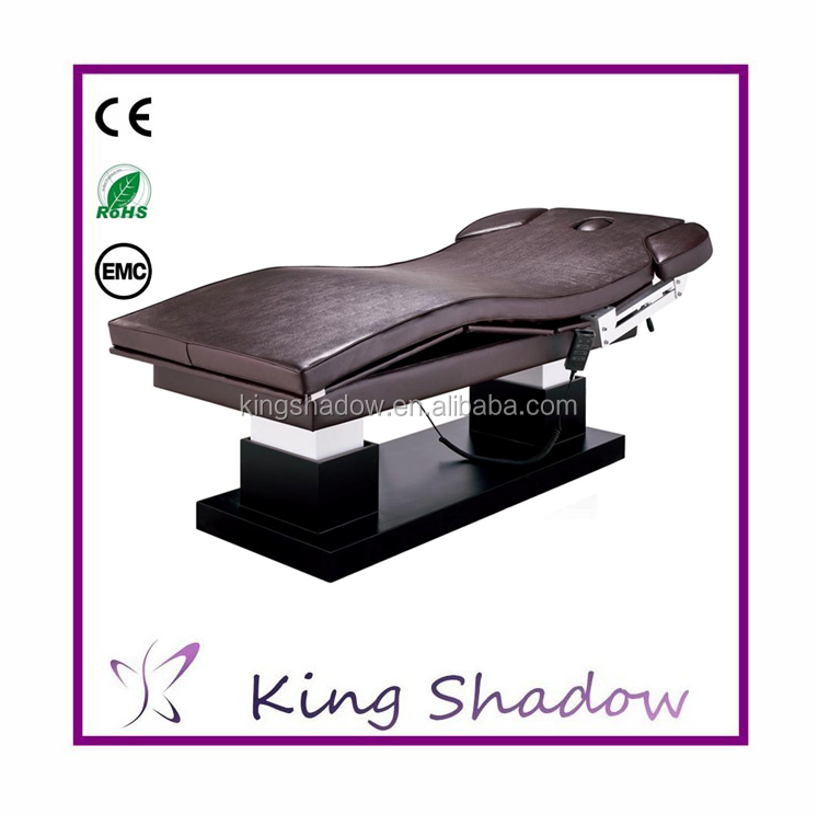 Electric facial bed electrical beauty bed massage bed for Beauty salon bed
