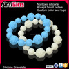 Good quality new style full color cheap silicon festival party bead bracelet