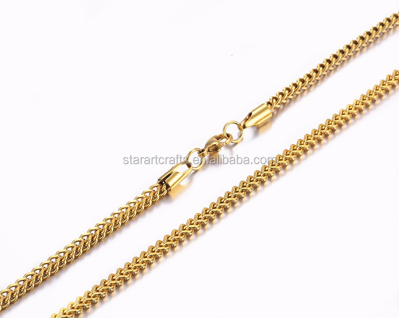 New hip hop fashion jewelry gold Franco Curb cuban link chain miami new gold chain design for men