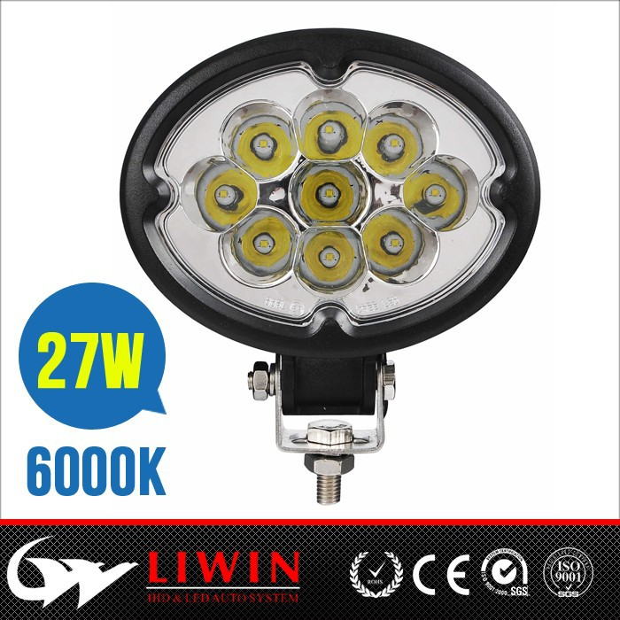High quality ! 27W round led work light Auto led work light for 4wd Driving utility Mower boat