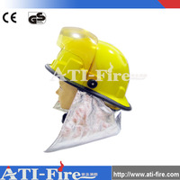 CE approved fireman heat resistance safety fire helmet with visor