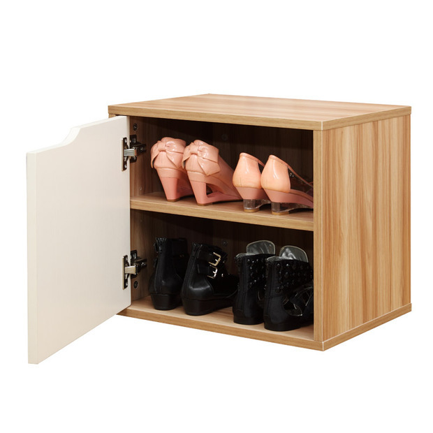 Cubic Wooden Shoe Rack with Cut-out Door/Homex_BSCI