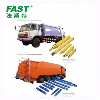 Garbage Trucks Double Acting Welded Cylinder Hydraulic Jack