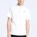 OEM custom embroidered white polo shirt 100% cotton for sale