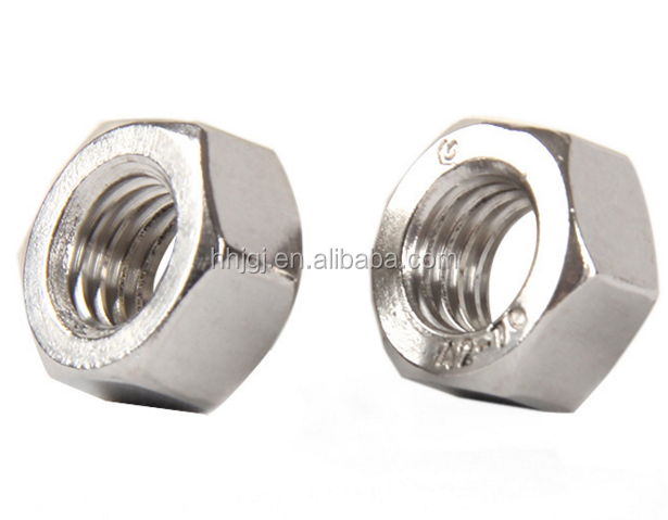 SS304 Hex Jam Nut (A2-70) Hexagon Nuts DIN934 Stainless steel 304 M1.6~M5 M6 M8 M10 M12 M14 M16 M18~M24
