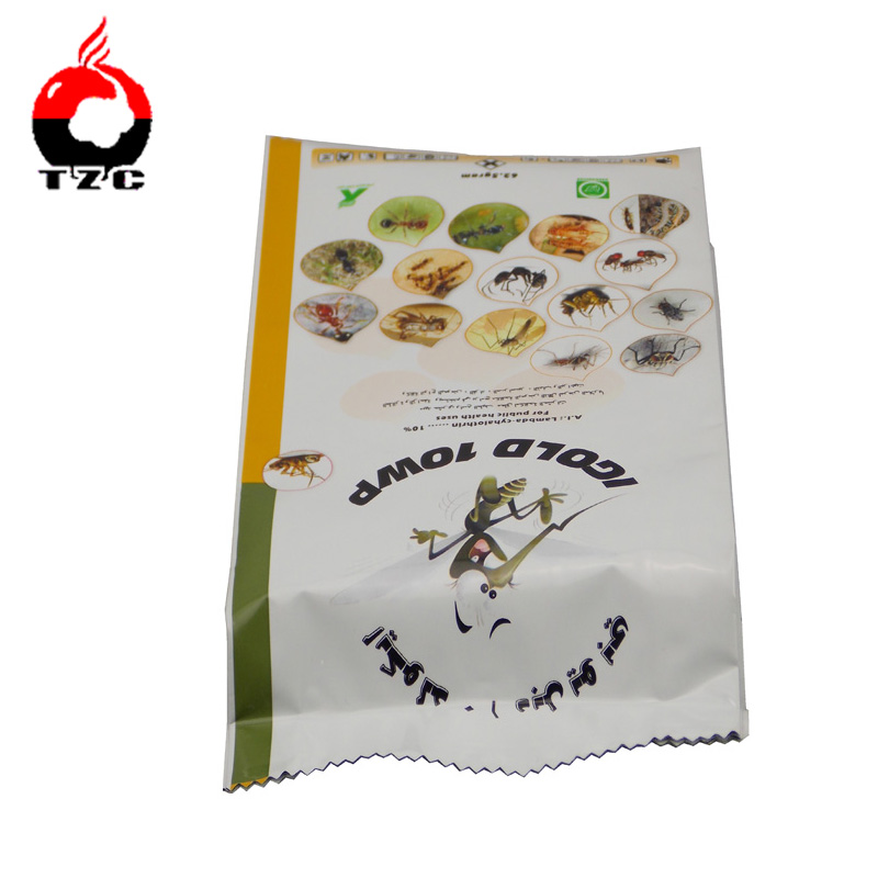 1kg pesticide fin seal packaging bag with side gusset