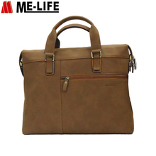PU leather laptop notebook briefcase bag handbag