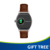 Gift Round smartwatch OLED touchscreen leather band MTK2501 wristwatch heart monitor camera compatible for IOS and Android BT4.0