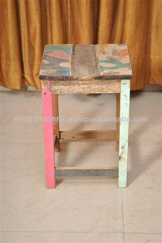 reclaimed timber from Indian Trucks, Stool