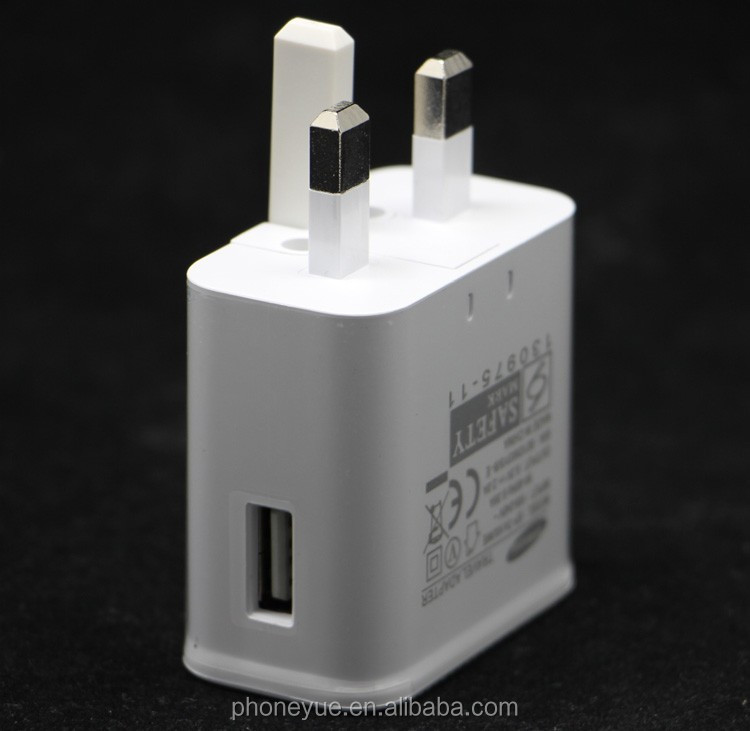Wholesale Folding 3 Pin UK Plug 5V 2A USB Power Wall Travel Charger Adapter for Mobile Phone
