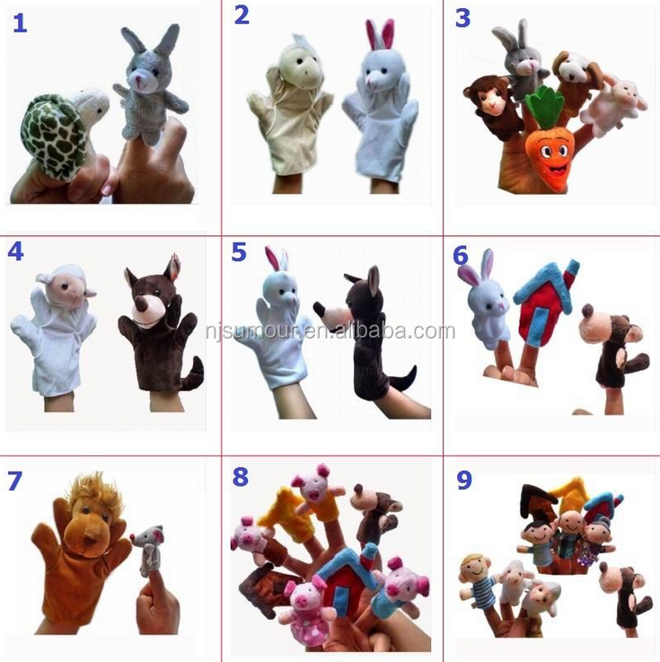 World Fairy Tale Finger Puppets Cloth Doll Baby Educational Hand Toy Story Kids