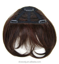 clip bangs straight fringe hairpiece for woman side part hairstyle 100human remy hair