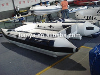 Liya china 4.3m high speed power hypalon inflatable catamaran for sale