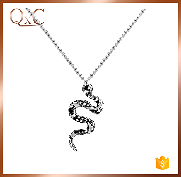 Animal necklace in 925 silver snake chain necklace