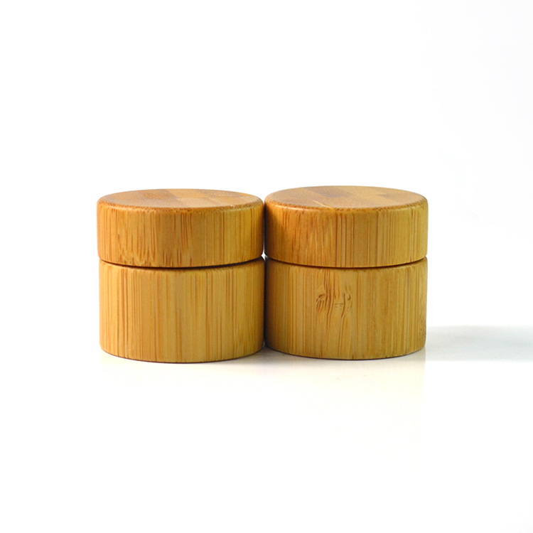 wholesale 5g bamboo wood cosmetic jars for cosmetic packaging