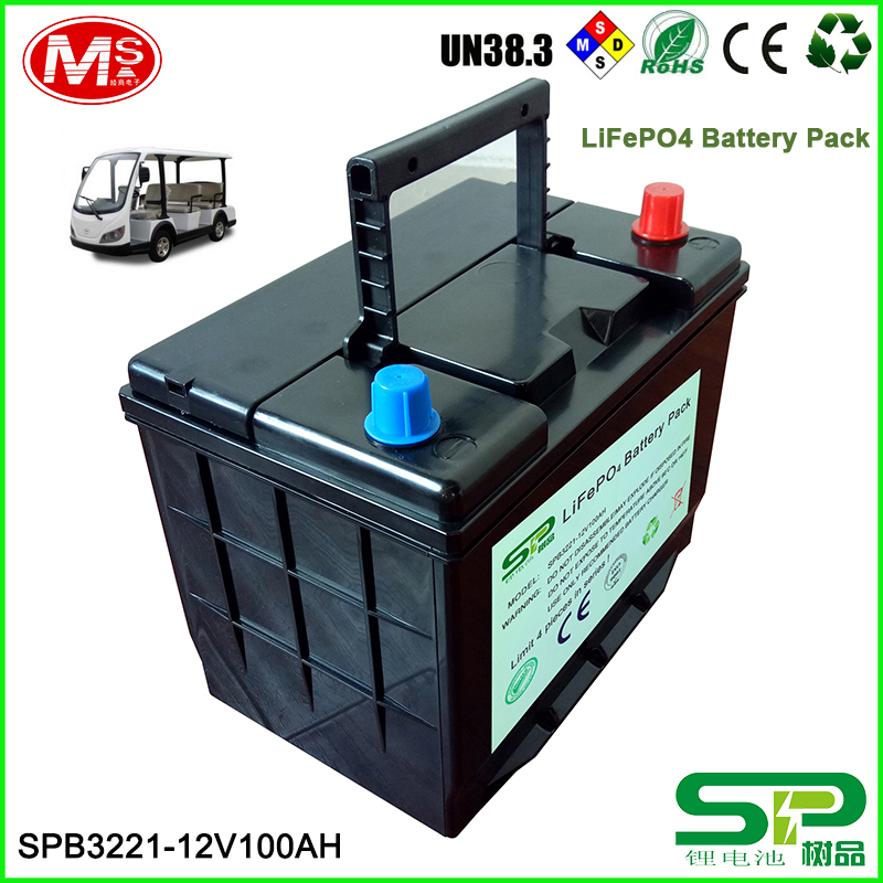 Economy portable safe 12V 100AH LiFePo4 battery for recreation vehicles