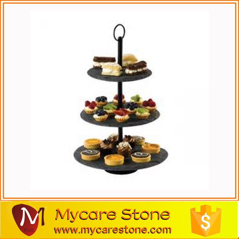 Eco- friendly Delicate Slate Cake Plate for sale