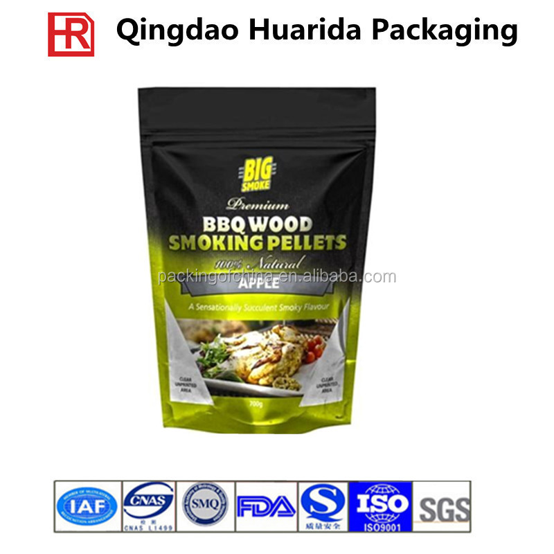 High quality frozen food/seafood plastic stand up bag
